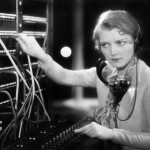 vintage switchboard operator